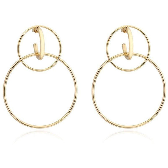 Kara Double Hoop- Gold
