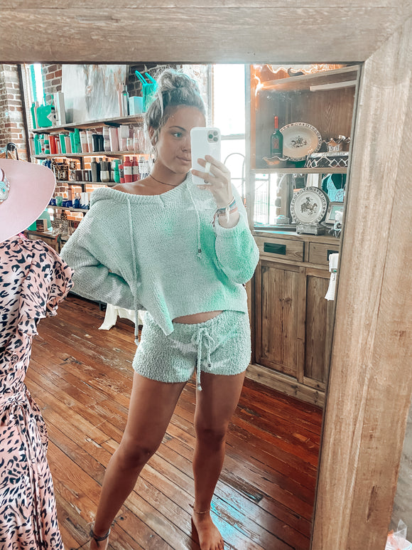Mint Star Berber Shorts
