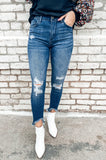 Off Road Distressed High Waisted Jeans