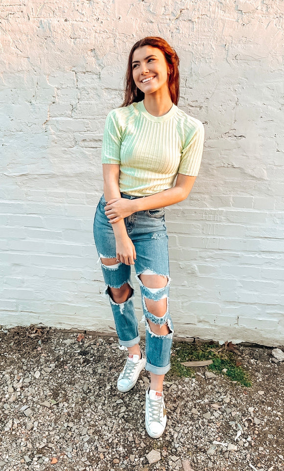 Free People Friday Morning Swit Tee - Sugared Mint