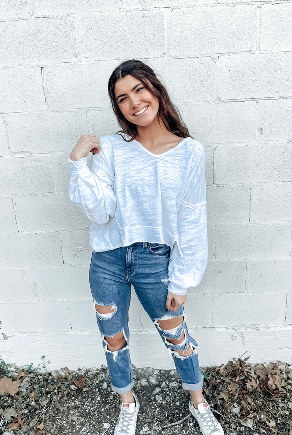 Free People Vega Long Sleeve - White