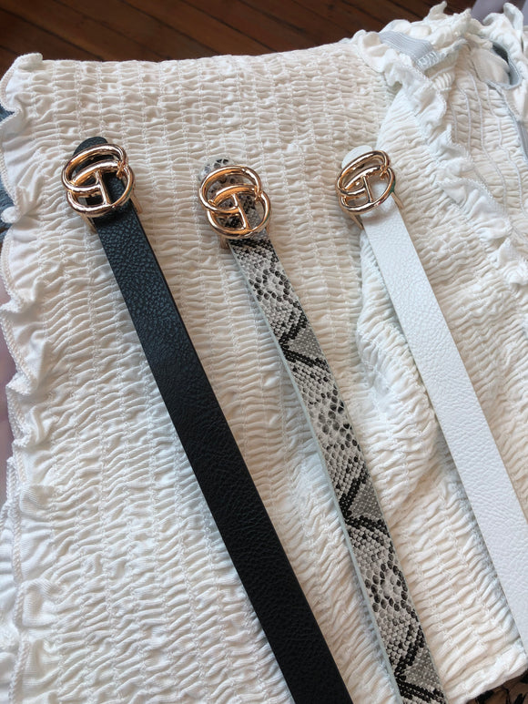 GIGI Narrow Faux Leather Belt