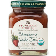 Organic Strawberry Vanilla Jam 8.25oz