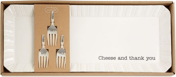 Mud Pie-Cheese Tray with Marker Set