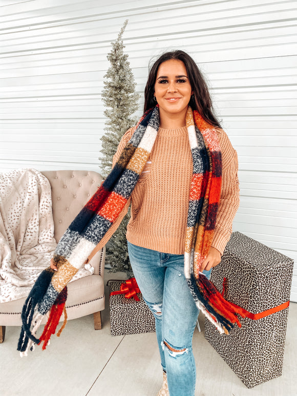 Spice of Life Plaid Scarf
