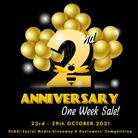 Just Bee Loved 2nd Year Anniversary Sale Announcement