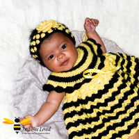 Just Bee Loved hand crocheted bee inspired clothing for babies