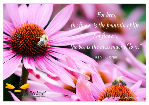 Bee and Nature Quotes Kahlil Gibran