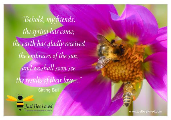 Bee and Nature Quotes Sitting Bull
