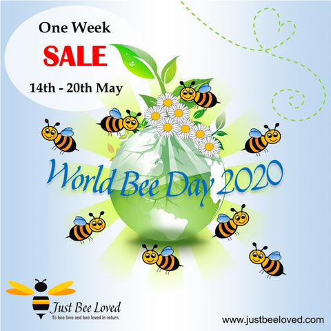 World Bee Day 2020 One Week Sale at Just Bee Loved