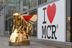 Manchester Honey Bee Golden Statue