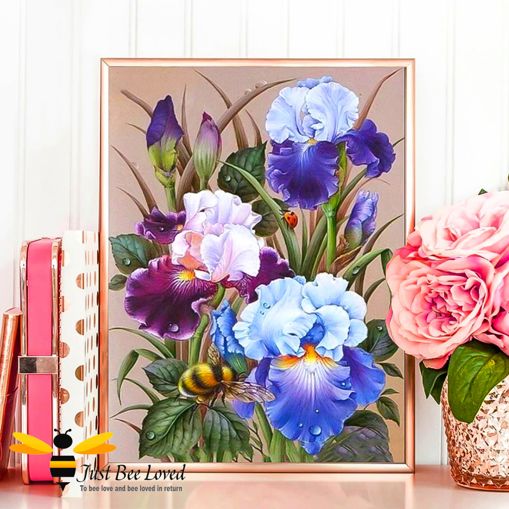 Flowers and bumblebee 5D Diamond Painting Embroidery Square Drill Full Kit