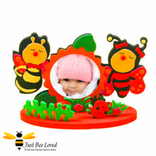 Load image into Gallery viewer, Children's DIY Creative Photo Frame Foam  Crafts Kit featuring a bee bumblebees design
