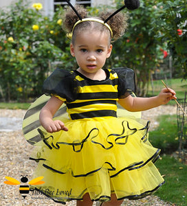 Little Girl's Bumblebee 3-Piece Fancy Dress Costume