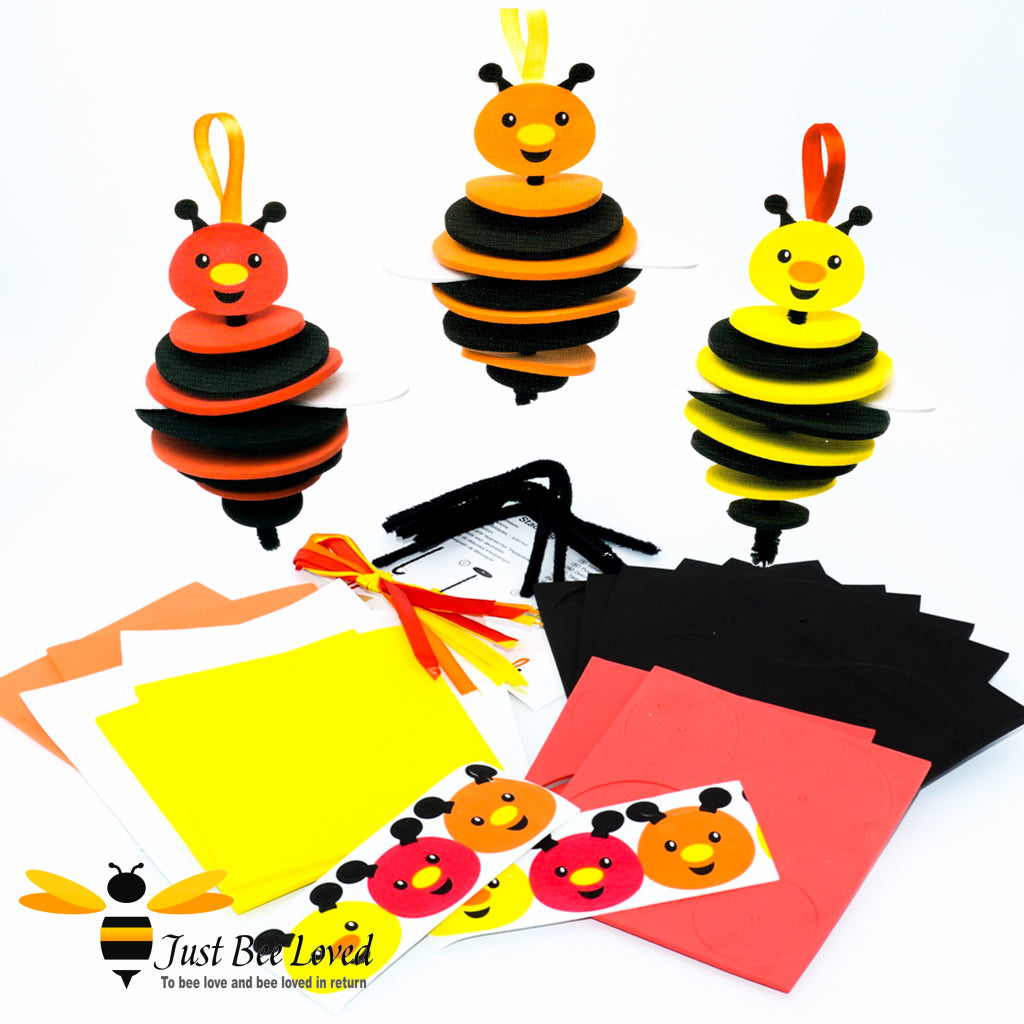 Children's buzzy bumblebees stacking craft kit creative art toy
