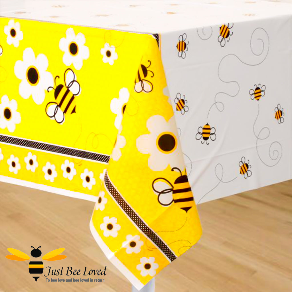 Busy Bees & Flowers Reusable Party Table Cover Bee Party Supplies & Fancy Dress