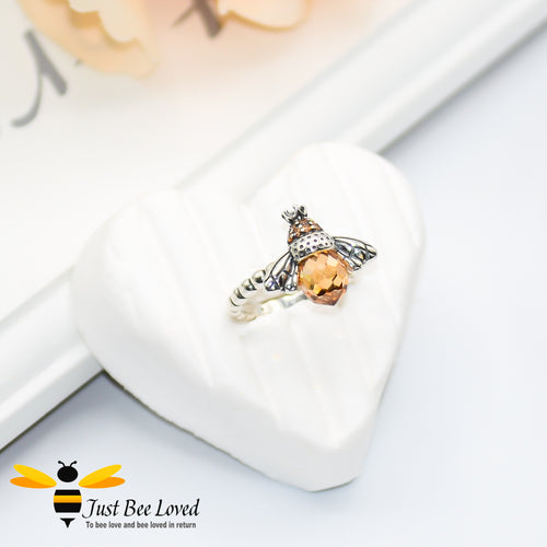 Sterling Silver 925 Queen Bee Ring