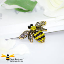 Load image into Gallery viewer, Vintage Rhinestone Crystal Bumblebee Brooch Bee Trendy Fashion Jewellery