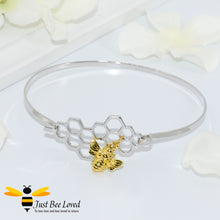 Load image into Gallery viewer, Honeycomb & Bee Pendant Bangle Bee Trendy Fashion Jewellery