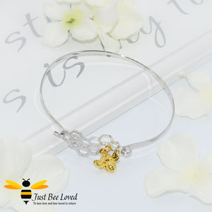 Honeycomb & Bee Pendant Bangle Bee Trendy Fashion Jewellery
