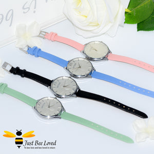 Ladies Leather Bee Wrist Watch
