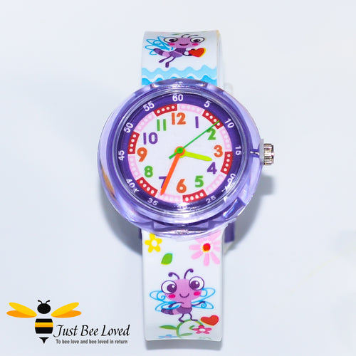Cartoon Purple Bee Girl's Watch