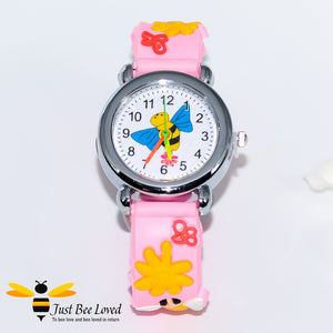 Groovy 3D Children's Girl's Silicone Bee Watch - 3 Colours