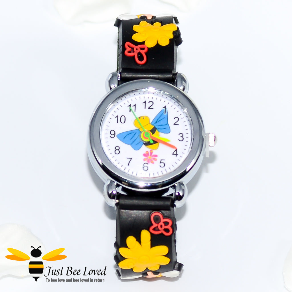 Groovy 3D Children's Silicone Bee Watch - 3 Colours