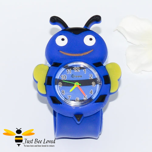 Children's Funny Bee Snap Watch in 3 Colours - Blue