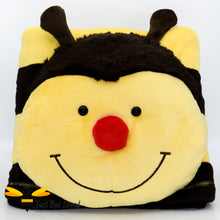 Load image into Gallery viewer, Original Pillow Pets Bumblebee Bee Fleece Throw Blanket and pillow