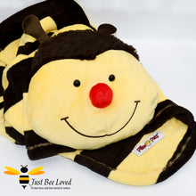 Load image into Gallery viewer, Original Pillow Pets Bumblebee Fleece Throw Blanket and pillow