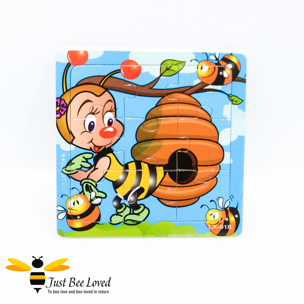 Wooden Small Bee Jigsaw Baby Puzzle