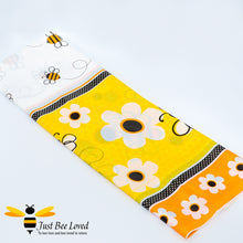 Load image into Gallery viewer, Busy Bees & Flowers Reusable Party Table Cover Bee Party Supplies & Fancy Dress