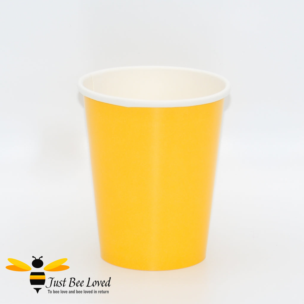 Sunshine Yellow Party Paper Cups Bee Party Supplies & Fancy Dress