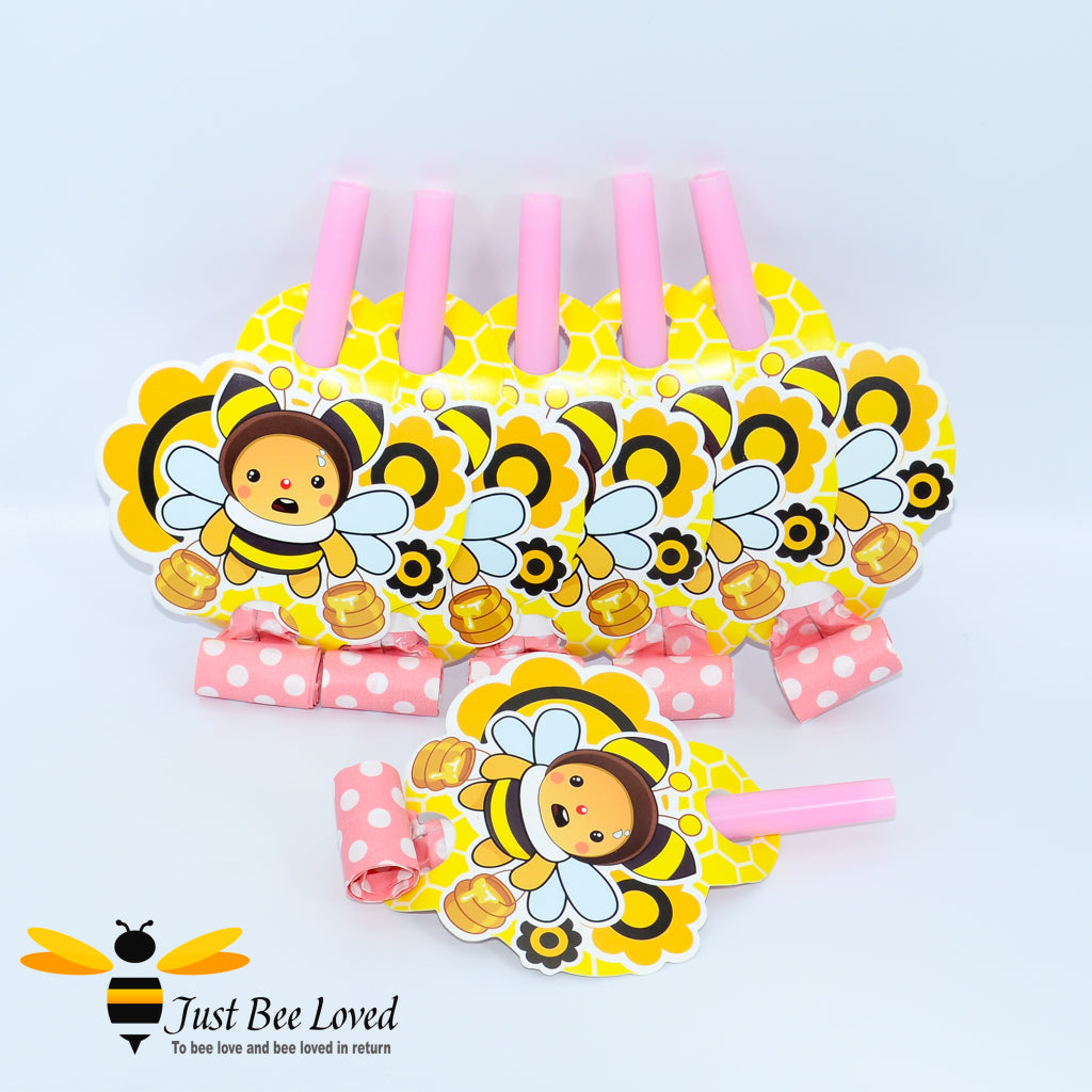 Bumblebee Party Blow Horn Pink Whistles Party Supplies & Fancy Dress