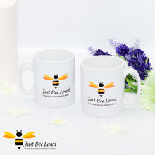 Load image into Gallery viewer, Just Bee Loved Signature Bee print Mug