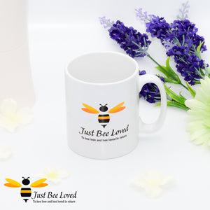 Just Bee Loved Signature Bee print Mug