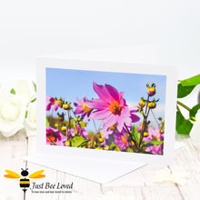 Load image into Gallery viewer, Bee and Bug in Field of Flowers Photographic Blank Greeting Card image by Landscape & Nature Photographer Yasmin Flemming
