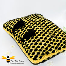 Load image into Gallery viewer, Just Bee Loved Hand crocheted Moroccan style Bordeaux Cushion