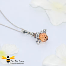 Load image into Gallery viewer, Sterling Silver 925 Queen Honey Bee Pendant Necklace