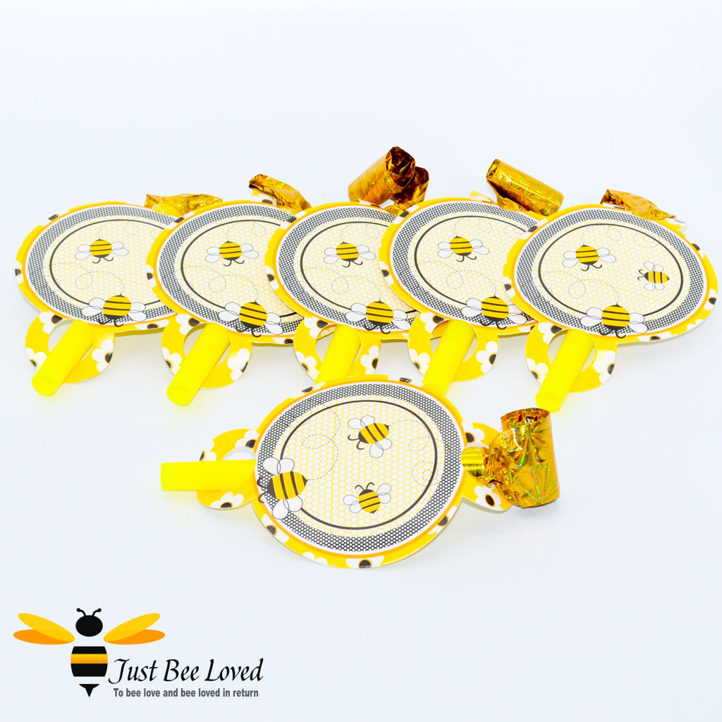 Busy Bee Party Blow Horn Foil Whistles Party Supplies & Fancy Dress