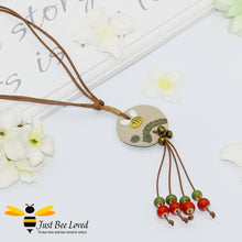 Load image into Gallery viewer, Handmade Clay Bee & Beads Tassel Rope Necklace Bee Trendy Fashion Jewellery