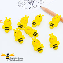 Load image into Gallery viewer, 8 Bumblebee Erasers Bee Party Supplies & Fancy Dress