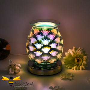 3D Aroma Bee Design Touch Sensitive Oil and Wax Melts Electric Burner Lamp from the Leonardo Collection