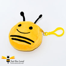 Load image into Gallery viewer, Key chain Mini Bumble Bee Pouch Plush Purse
