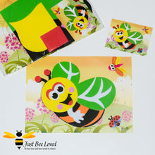 Load image into Gallery viewer, DIY Children's Bumblebee Sticky Foam Crafts Arts Kit
