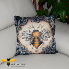 Load image into Gallery viewer, Magical Mystic Bumblebee design on woven linen scatter cushion