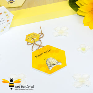 "Wooden Mini Gift Signs featuring ""Meant to Bee""  message bee Gifts"