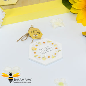 "Wooden Mini Gift Signs featuring ""Mum, if you were a flower, I'd pick you""  message bee Gifts"
