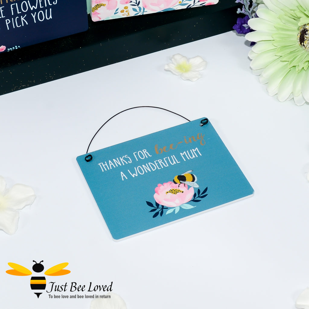 Sentimental wooden mini sign card with bee related message